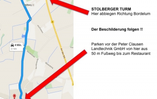 Anfahrt Stolberg